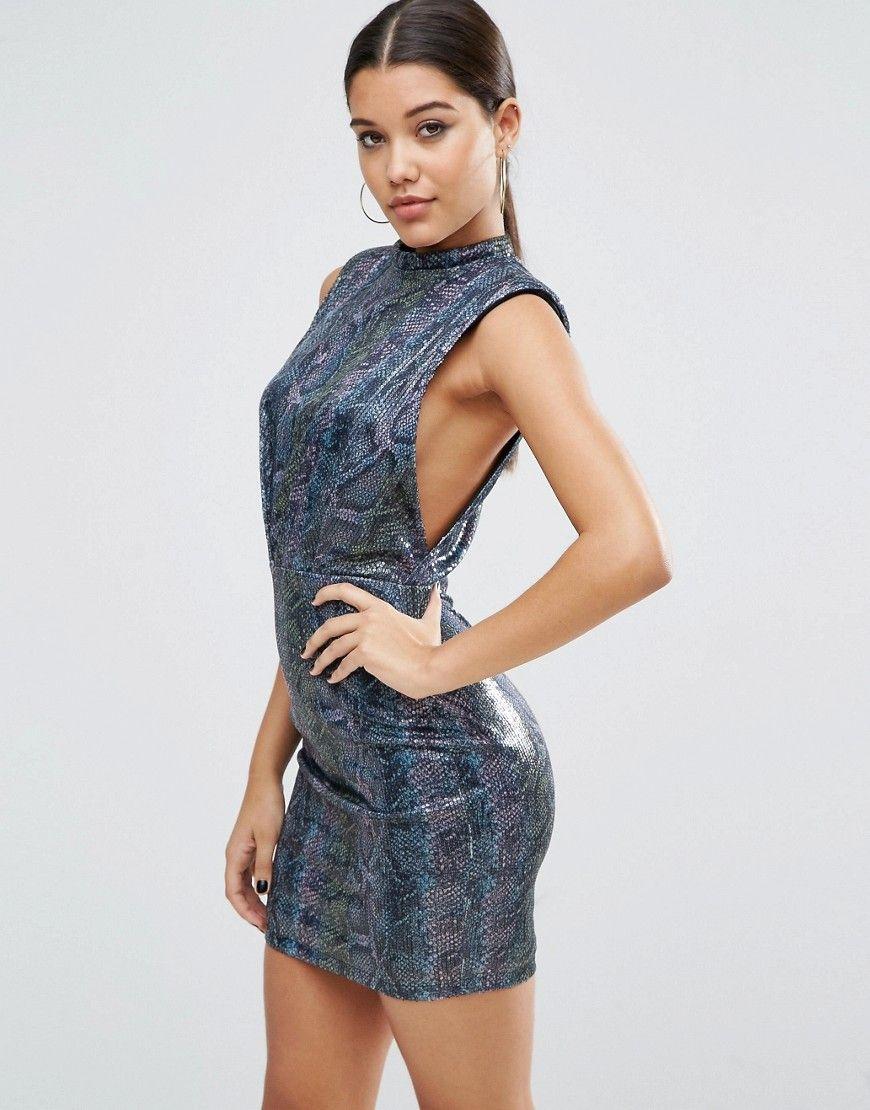 7192e57cd7 ASOS Sequin Animal Low Armhole Mini Dress - Multi | Dresses ...