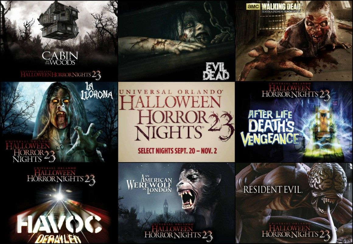 here it is, the full haunted house lineup for halloween horror