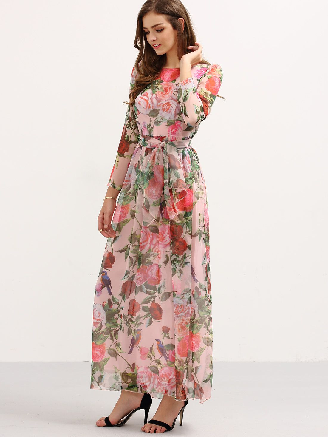 Pin by vania lisboa on shop pinterest long sleeve chiffon dress
