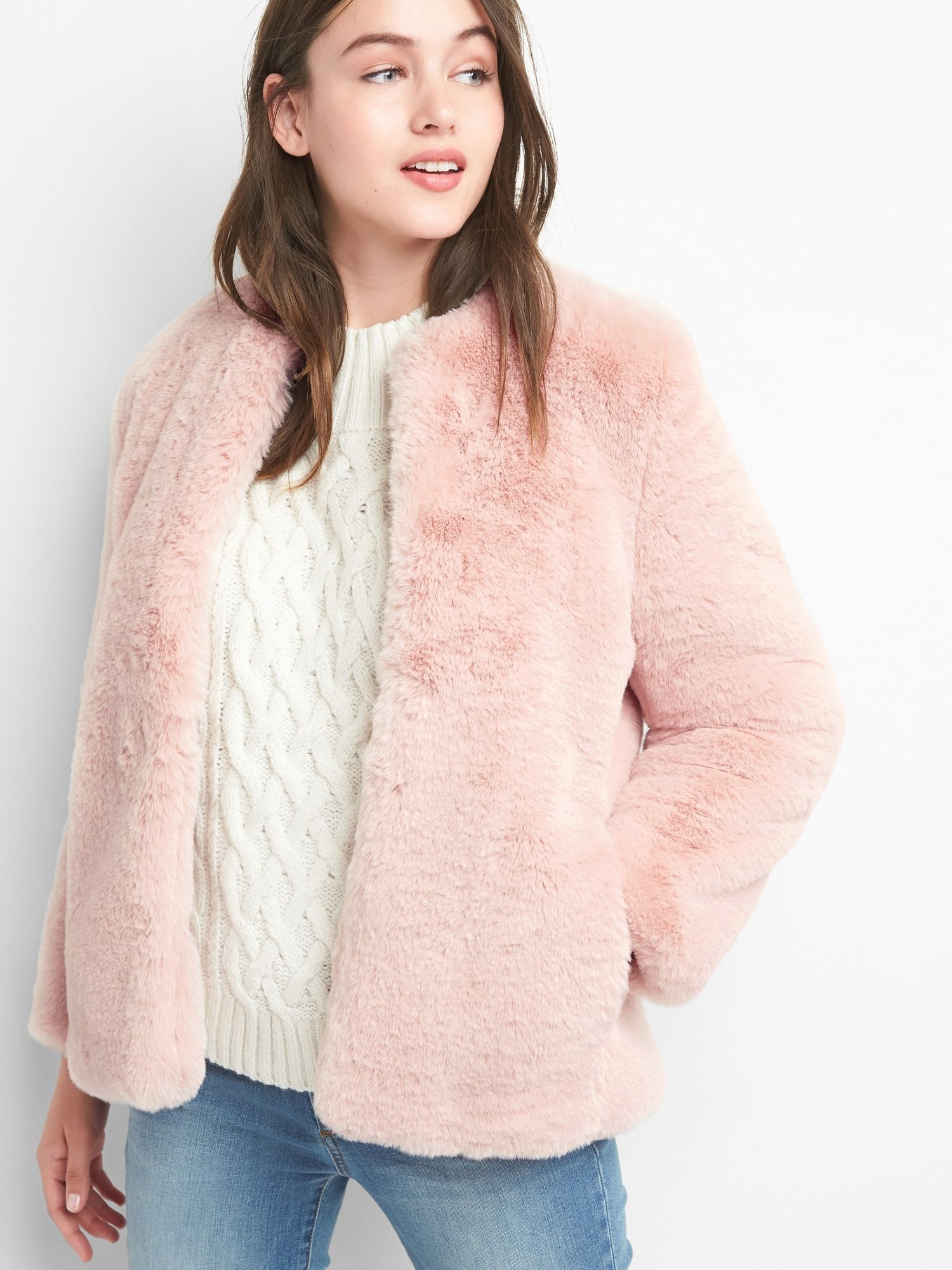 Product Photo Faux Fur Jacket Casual Winter Outfits Fur Jacket [ 2000 x 1500 Pixel ]
