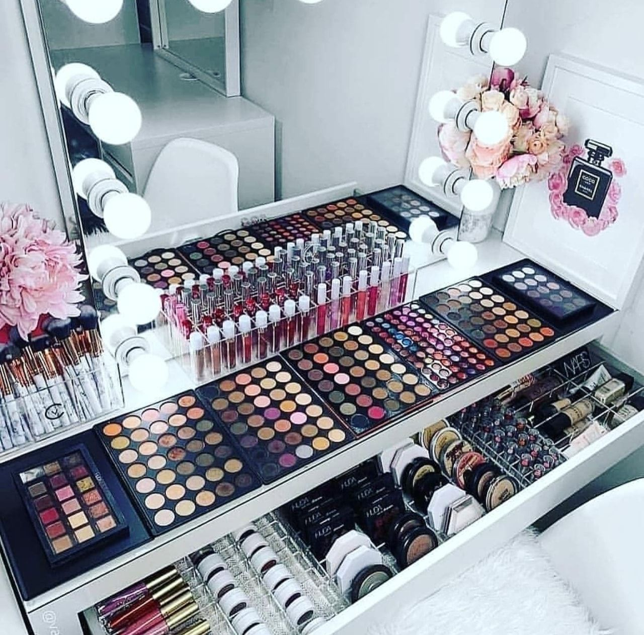 amazing amazing Makeup organization vanity, Makeup
