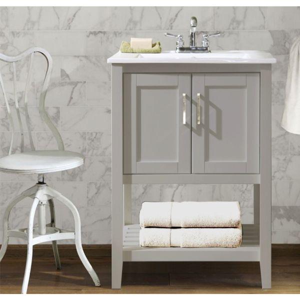 Ceramic Sink Top 24-inch Single Sink Bathroom Vanity - Overstock