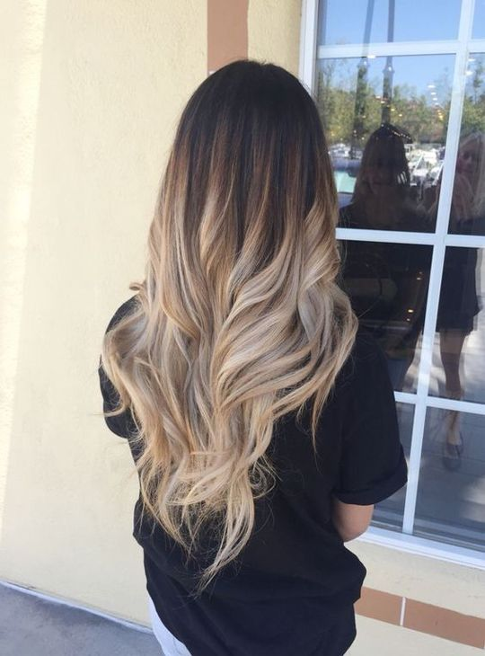 Long Layers With Balayage Ombre Highlights Imagini Poze Cabelo
