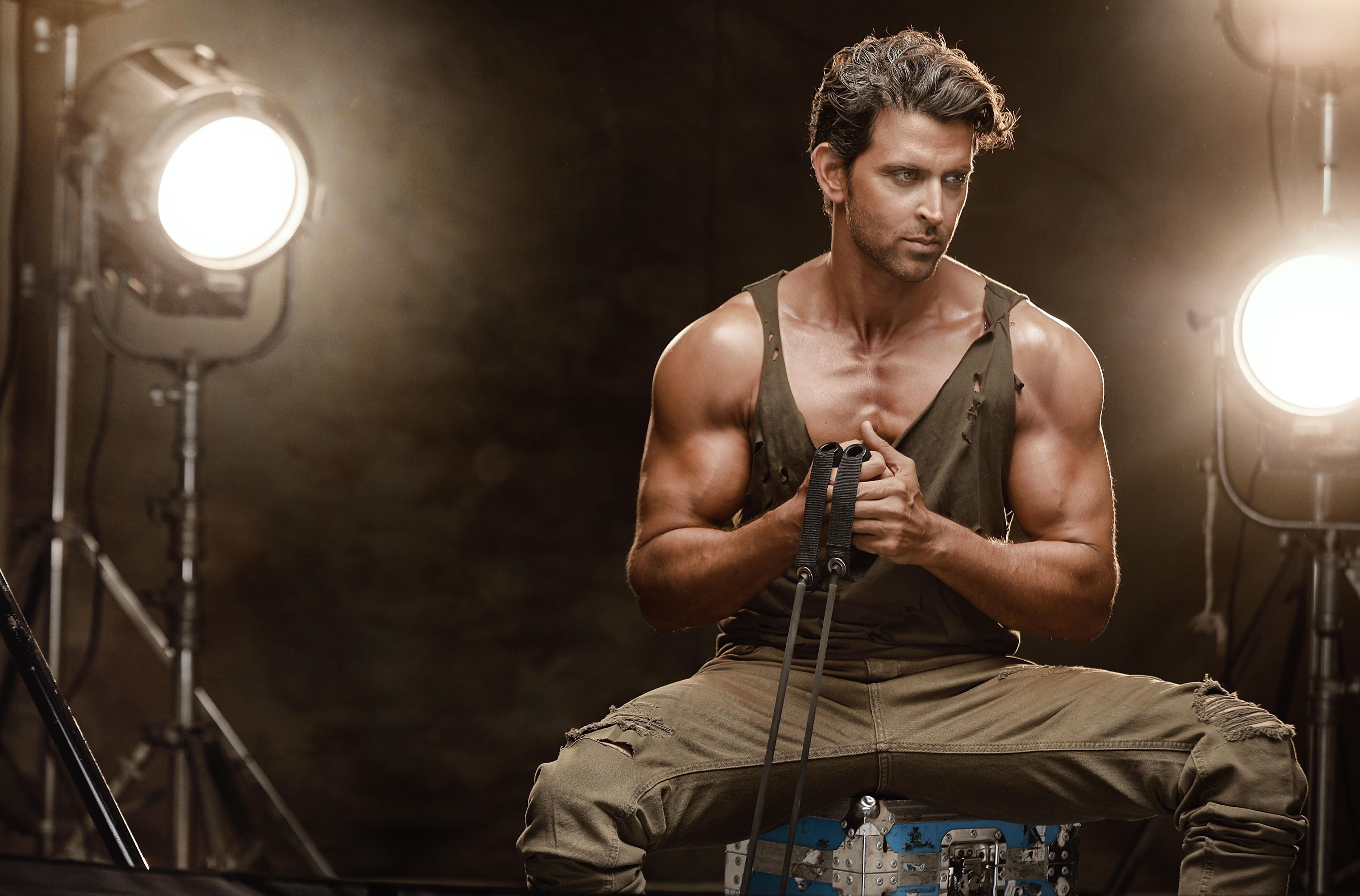 #Bodybuilder Hrithik Roshan #Fitness #5K #5K #wallpaper #hdwallpaper #desktop
