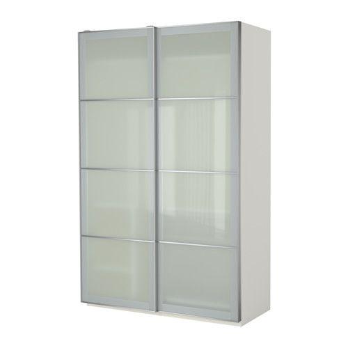 PAX Kleiderschrank, weiß, Sekken Frostglas 150x66x236 cm ...