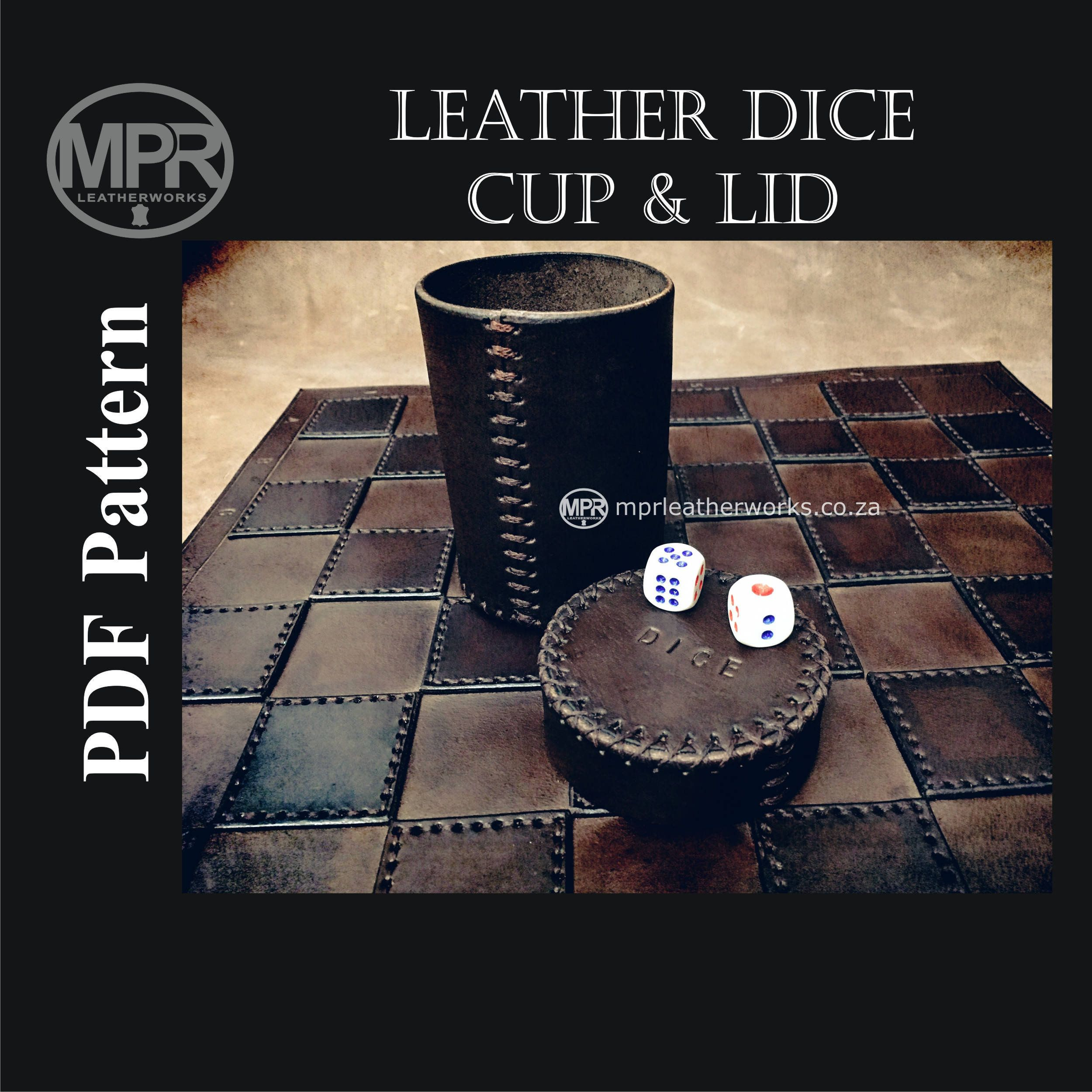Dice cup made from select wood with great wood detail