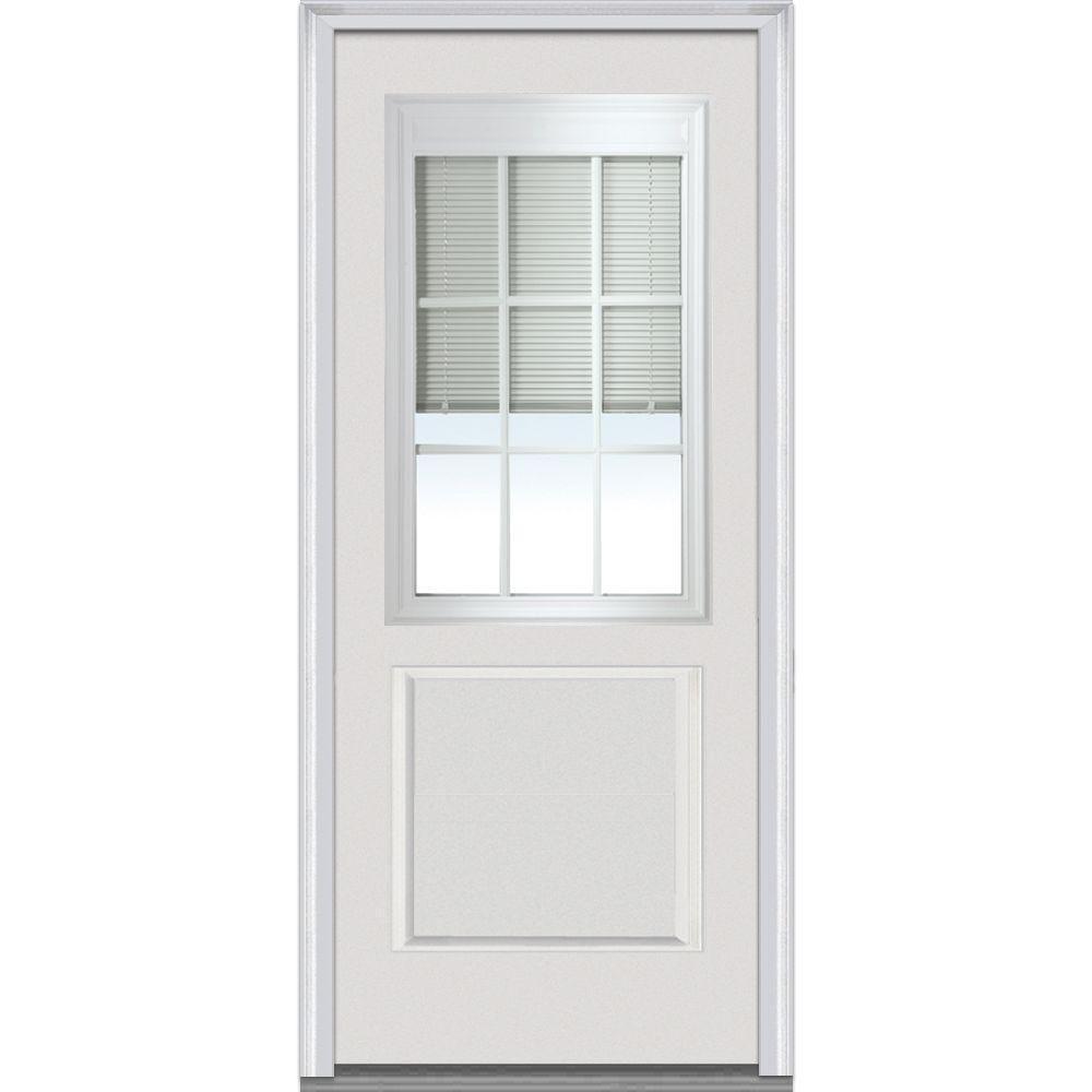 Mmi Door 36 In X 80 In Rlb Left Hand 12 Lite 1 Panel Classic