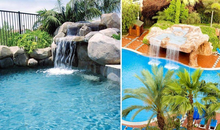 piscinas con cascada exterior Pinterest Cascadas, Piscinas y