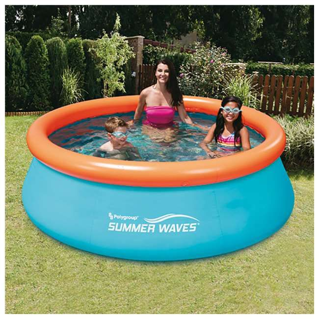 Summer Waves 8 Foot Inflatable Pool With Aquatic Floor Pattern Pin It To Win It Kid Pool Summer Waves Inflatable Swimming Pool