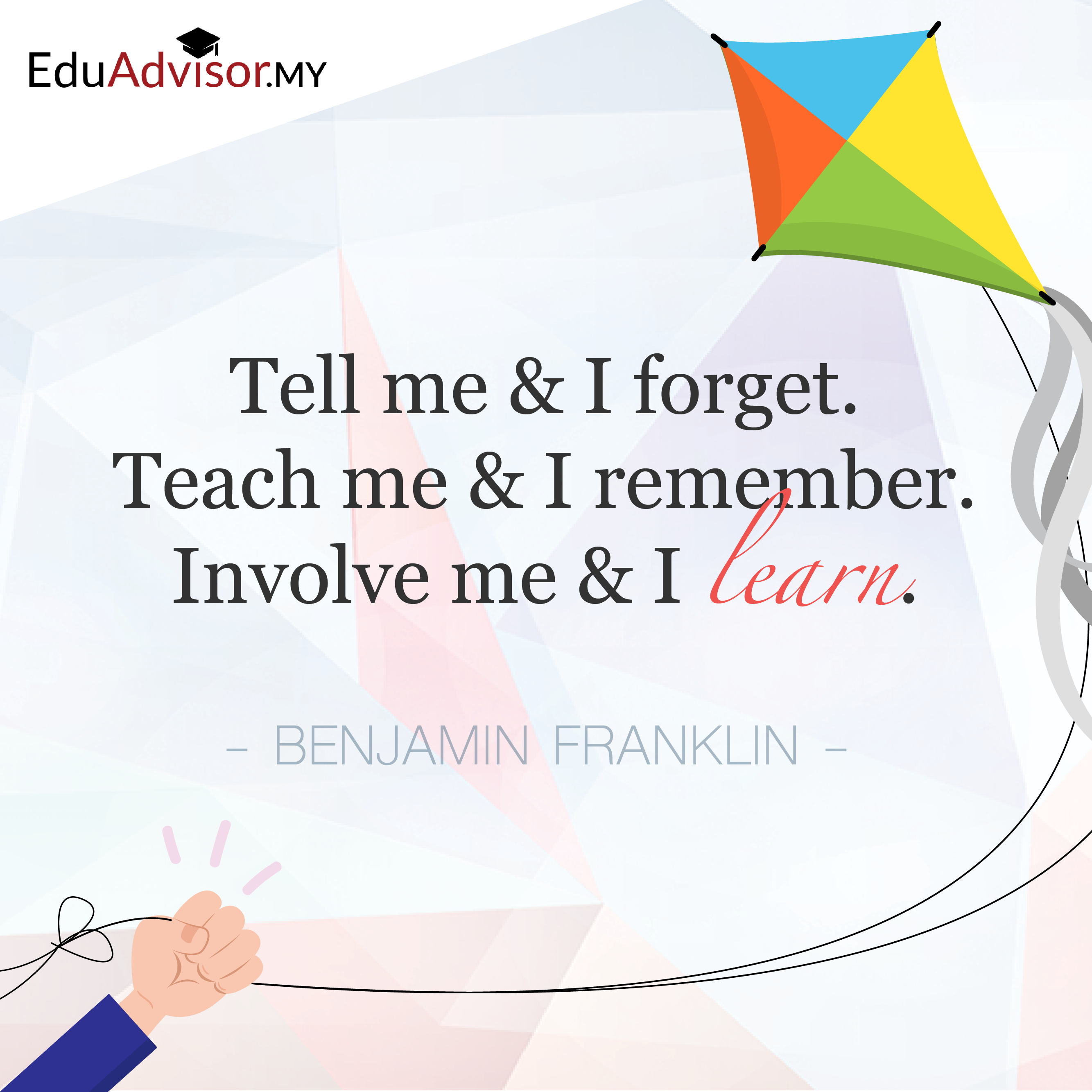 Tell Me And I Forget Teach Me And I Remember Involve Me