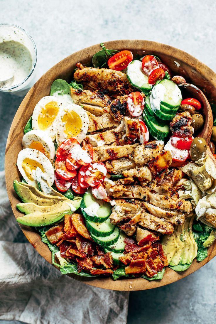 Salade César Cobb au poulet grillé | Healthy recipes, Paleo recipes easy, Paleo dinner