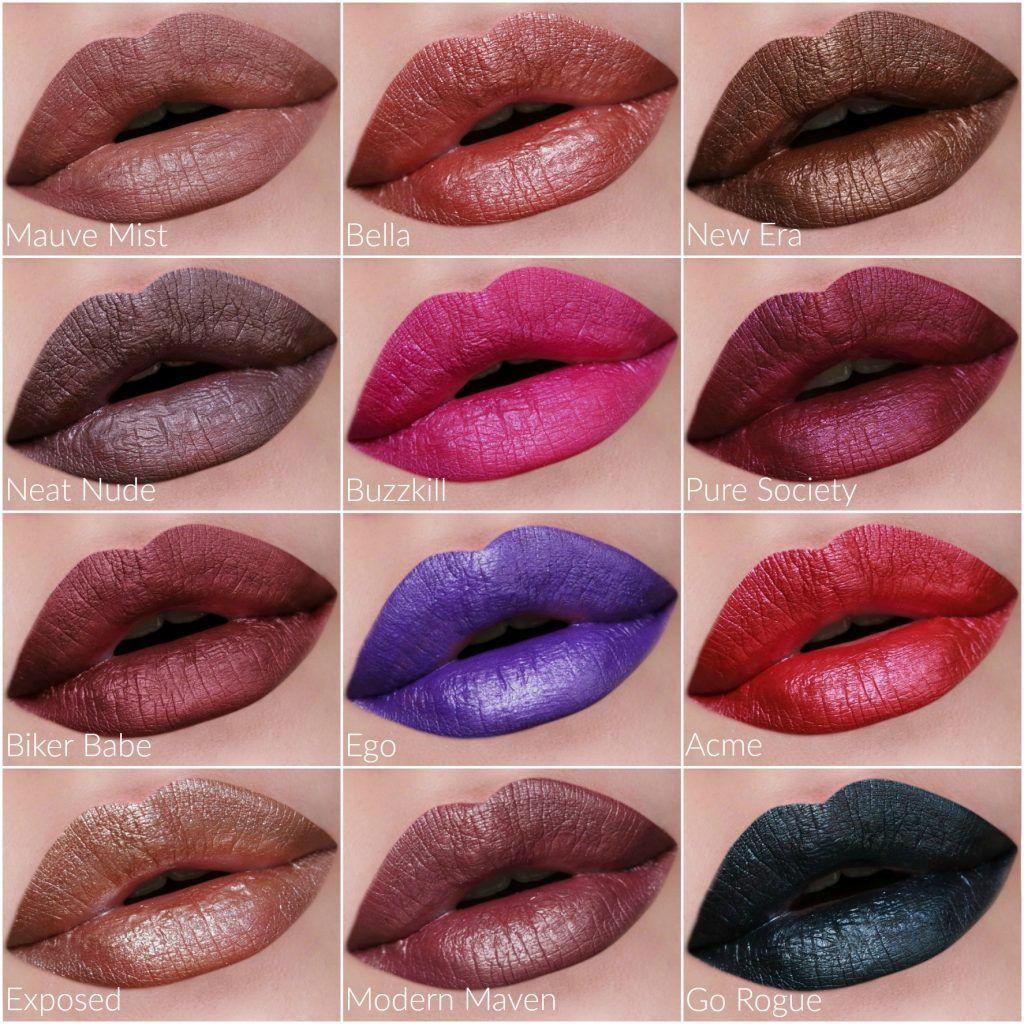 Nyx Professional Makeup Liquid Suede Metallic Matte Lipsticks Prom