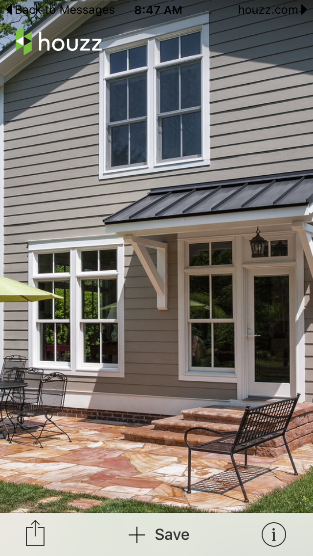 Pin By Carrie Thompson On Porch Ideas House Awnings House Exterior Awning Over Door