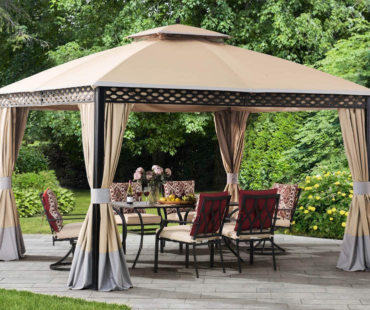 Wilson Fisher Oakmont Domed Gazebo 10 X 12 Big Lots Patio Outdoor Rugs Patio Gazebo