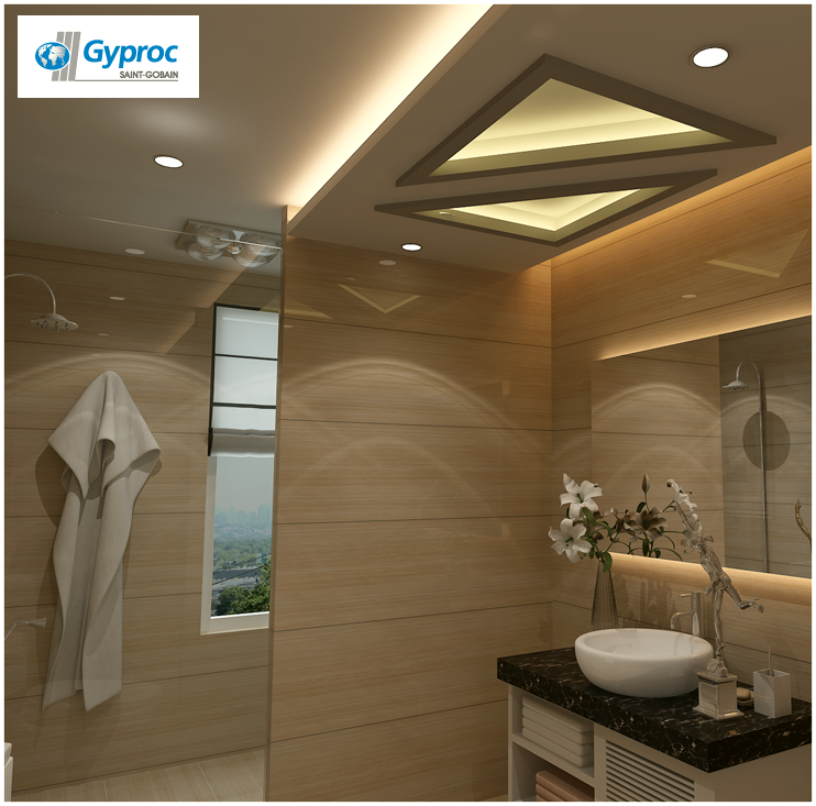 Install The Best Of Gyproc India #falseceilings & Experience A Serene & Lovely Home. Visit Www