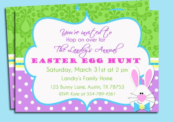 Easter bunny damask invitation printable or printed with free easter bunny damask invitation printable or printed with free shipping brunch easter egg hunt birthday party and more filmwisefo