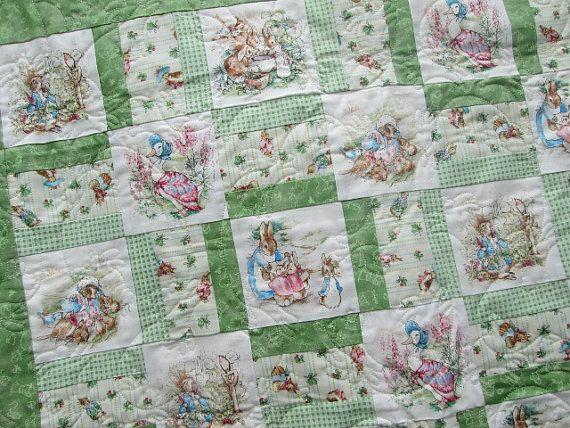 Baby Quilt Peter Rabbit Nursery Beatrix Potter Quilt