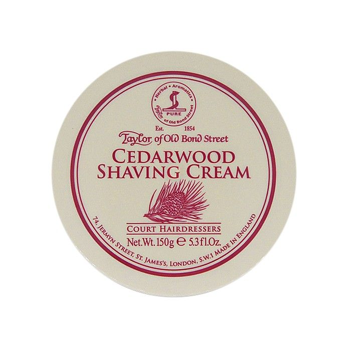 01012 Introducing Taylor of Old Bond Street's newest shaving cream, Cedarwood. A luxurious and understated masculine fragrance offering a superior lather.
