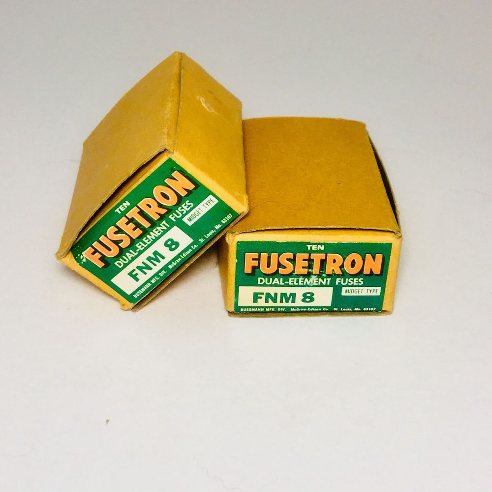 hight resolution of fusetron fnm 8 8 amp 250 volts fuse box of 10 bussman new