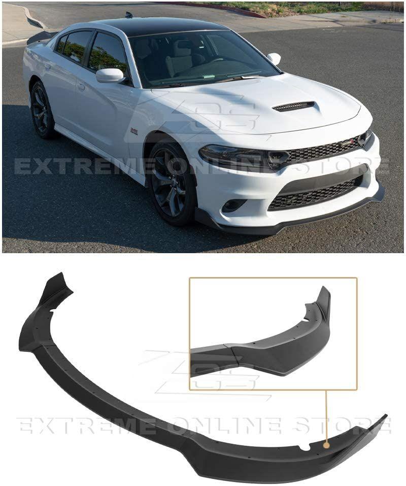 2015 Present Dodge Charger Srt Style Abs Plastic Painted Black Front Bumper Lower Lip Splitter Dodge Charger Dodge Charger Srt Black Flats