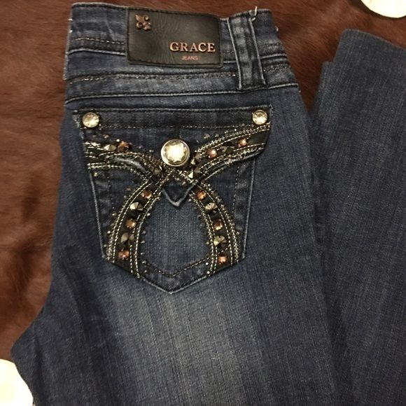 ✨GRACE  WOMEN JEANS ✨ In GREAT CONDITION GRACE JEANS BOOT CUT INSEAM 31 *PRICE FIRM * Grace Jeans Jeans Boot Cut