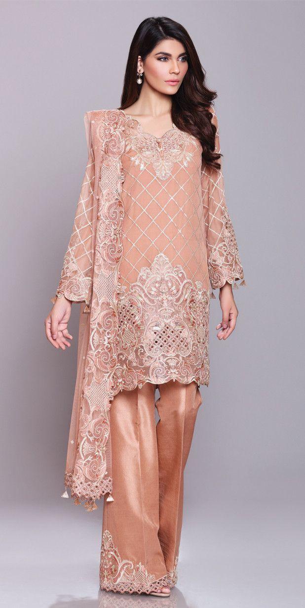 Anaya Chiffon Collection By Kiran Chaudhry 7 Jpg 618 1230 Model Pakaian Muslim Model Pakaian Gaun Pesta