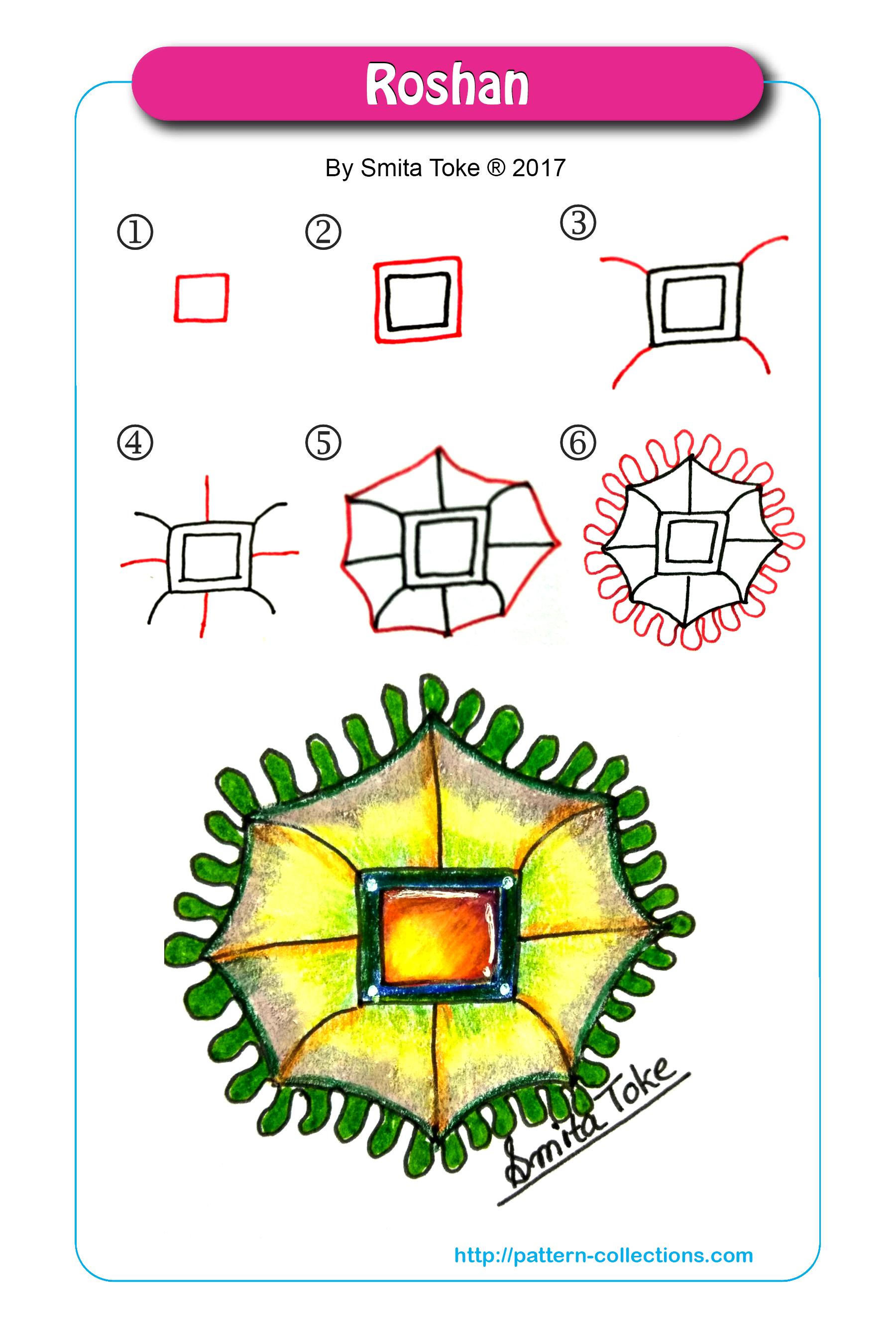 Roshan Zentangle Patterns Tangle Patterns Doodle Patterns