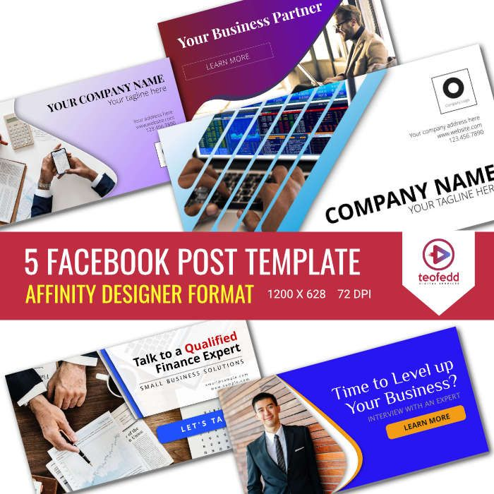 5 Facebook Post Design Template For Your Business Using