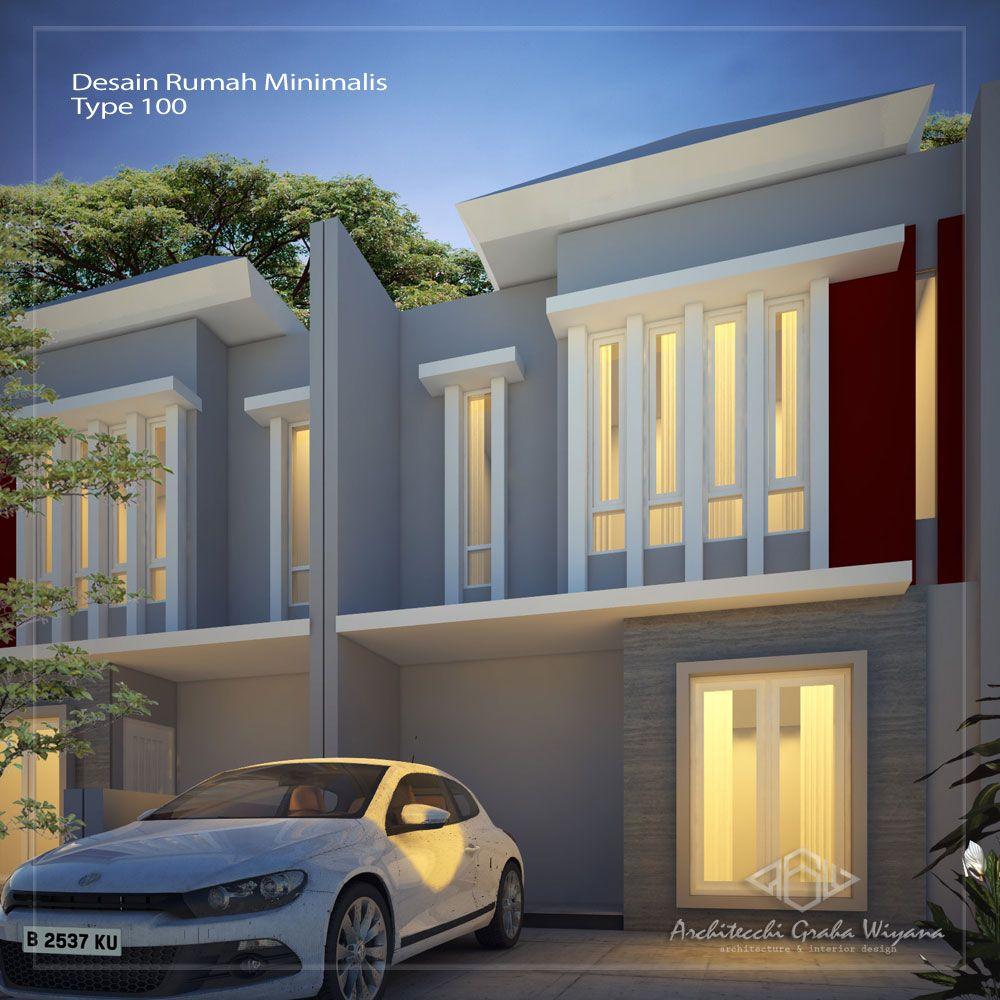 Desain  Rumah  2 lantai lebar 6 meter type 100  4 kamar