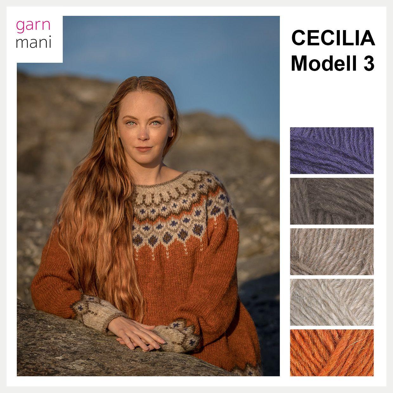 f857b5c3 Tanken når jeg designet Cecilia var å leke med farger. Samtidig ble det  strikket opp