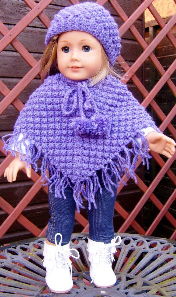 18 American Girl Puppe. BlackBerry Poncho Set PDF von jacknitss ...