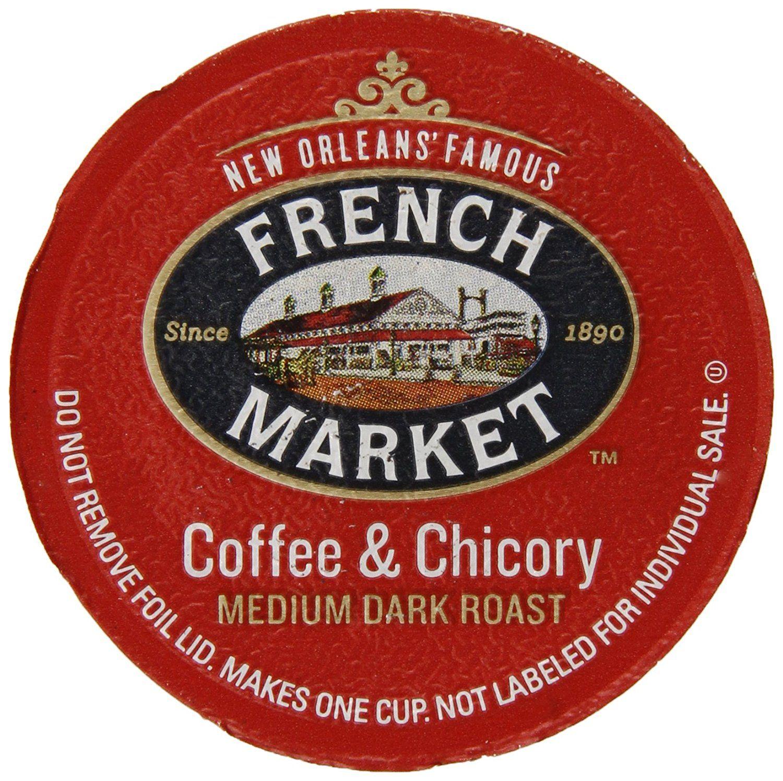French market coffee single serve cups mediumdark roast