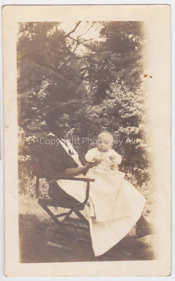 Vintage photo snapshot Baby and African by ThatVintagePhotoShop