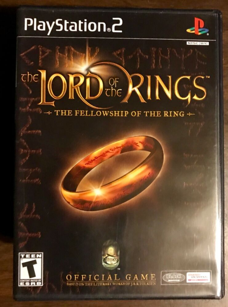 Playstation 2 The Lord Of The Rings The Fellowship Of The Rings