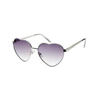 Relativity® Heart Shaped Sunglasses
