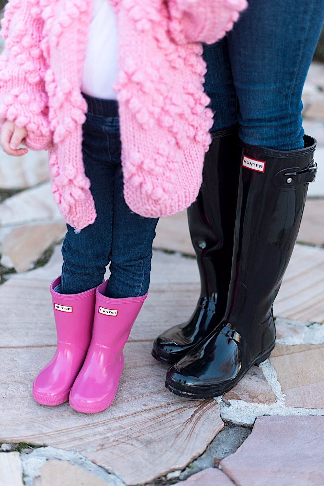 Shades of Pink | Toddler hunter boots