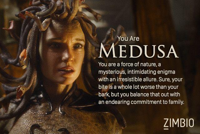 Quotes About Greek Mythology: I Took Zimbio's Greek Mythology Quiz, And I'm Medusa! Who