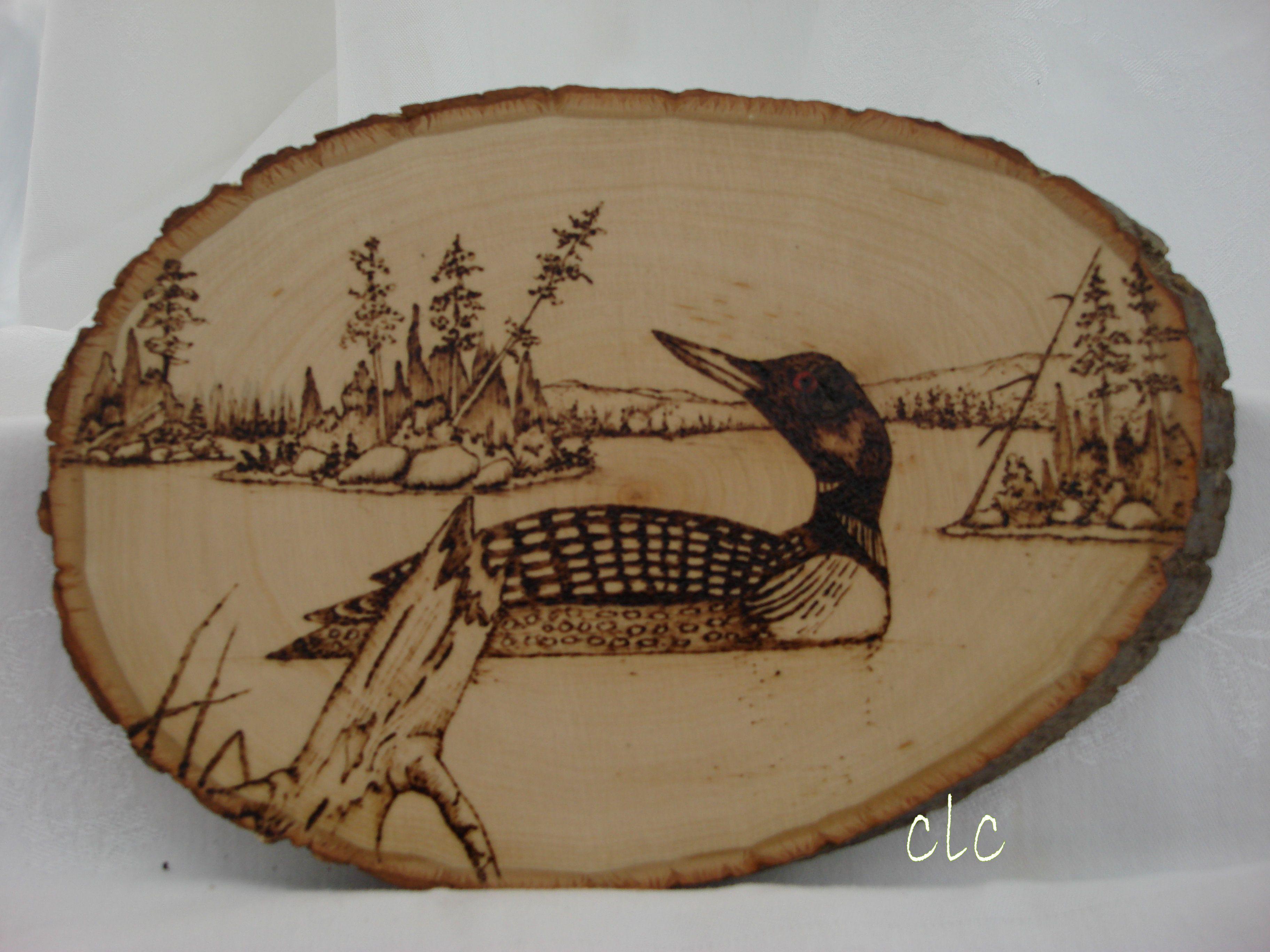 Loon Wood burning | The Creative Tick | Pinterest | Pirograbado ...