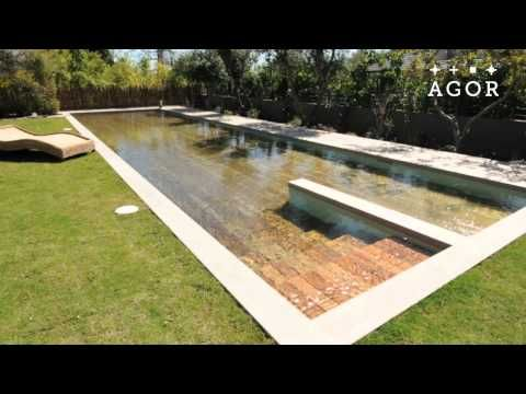 magic floor sinks into the ground to transform into an outdoor pool home exterior