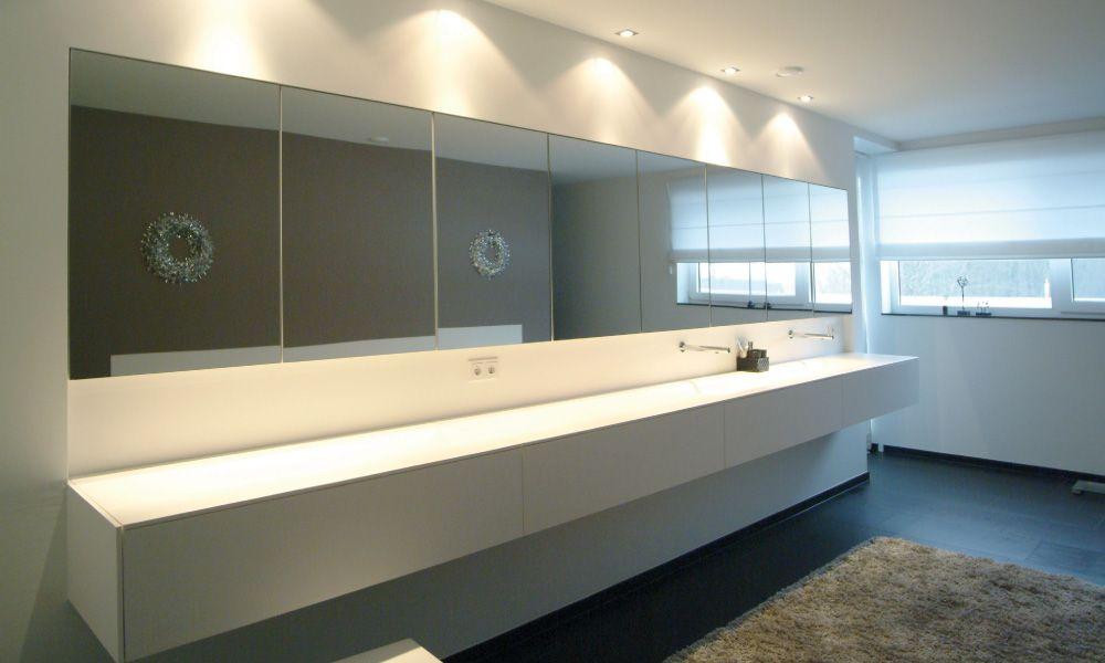 Modern badkamermeubel luxe wasbak solid surface maatwerk