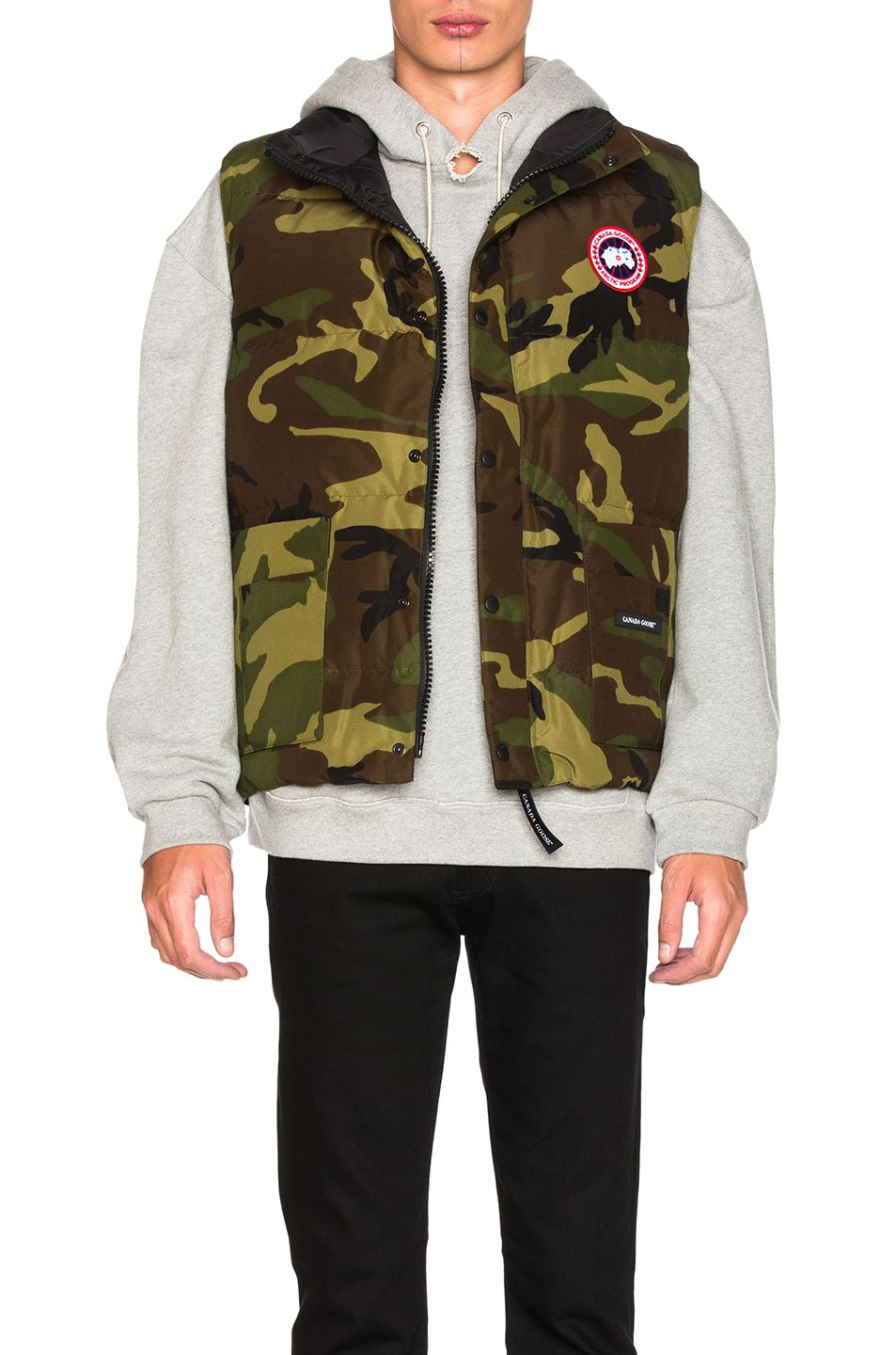 CANADA GOOSE Freestyle Vest in Classic Camo. #canadagoose #cloth #