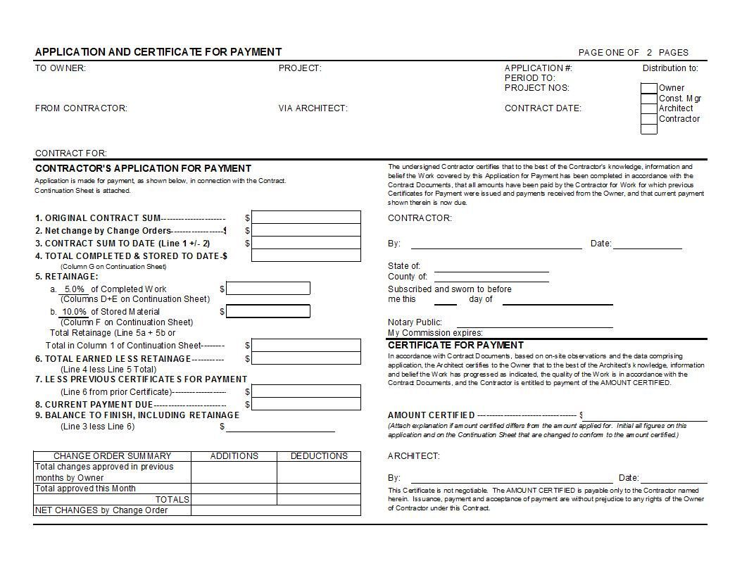 Aia Form G703 Excel For Your Construction Payment In Certificate Of Recognition Template Certificate Of Completion Template Certificate Of Achievement Template