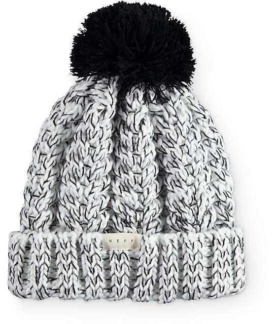 ca677a2800 Neff Kaycee Black & White Marled Beanie | Dream Closet | Hats ...