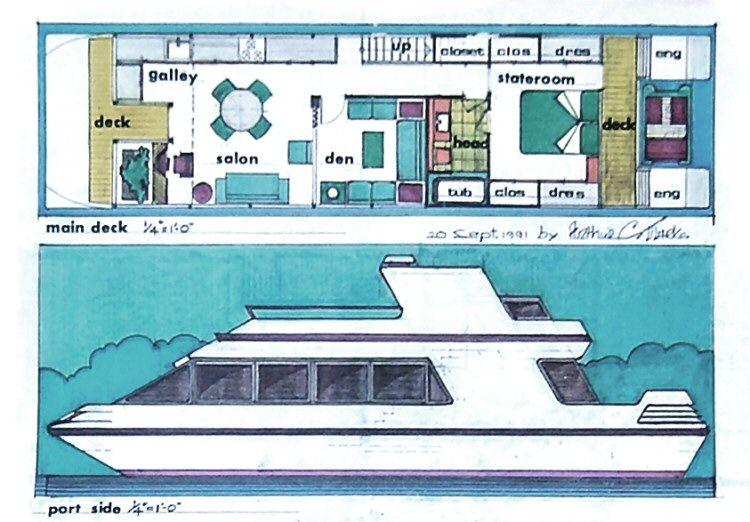 Catamaran Designs Arthur C Marks Architect House Boat Boat Building Plans Wood Boat Plans