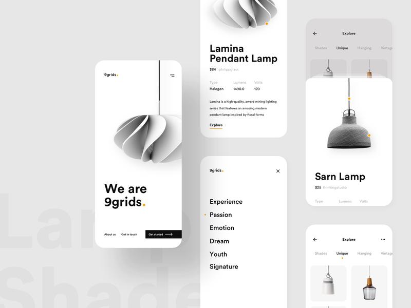 The Lamp Shades Lamp App App Interface Design