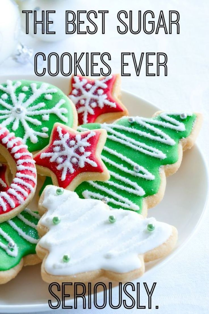 look no farther for the best sugar cookie recipe this holiday season a little shortbread a whole lot of flavor and perfect for making ahead - Best Christmas Sugar Cookie Recipe