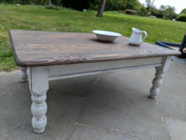 rustic boho large wooden coffee table white distressed shabby chic rustic wooden coffee table on boho chic kitchen table id=19685