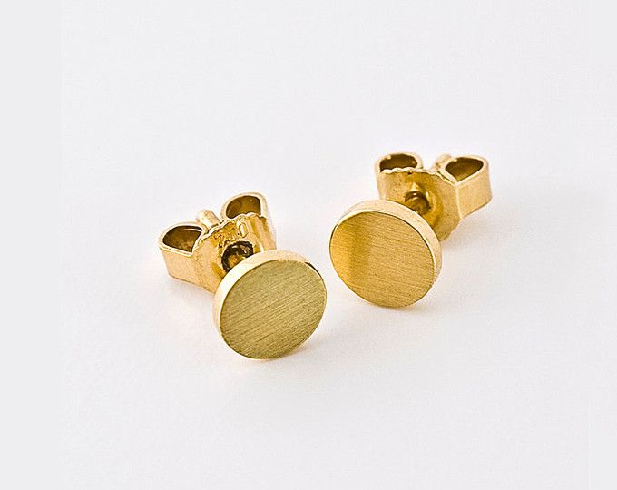 Flat Solid Gold Stud Earrings  5b1b3247b