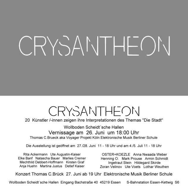 Kunstler Blog Archive Crysantheon Wollboden Essen Art Exhibition Exhibition Lockscreen