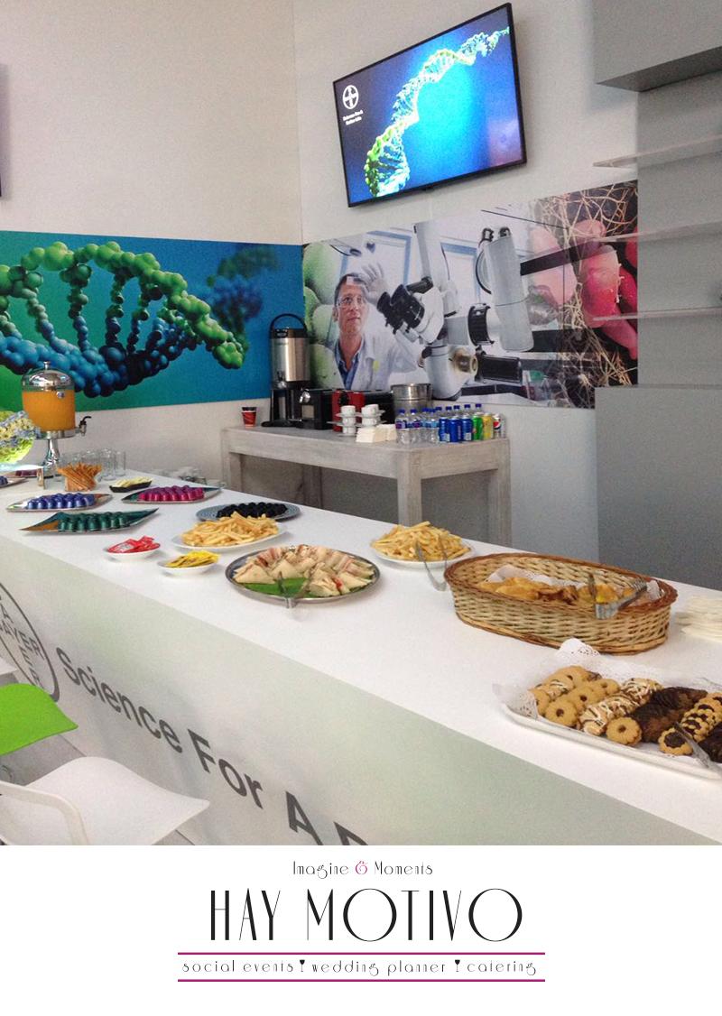 """Te compartimos un ejemplo de nuestro trabajo: Coffee Bar para stand sección VIP en el Evento """"Hecho en Alemania"""" de Bayer de México."""